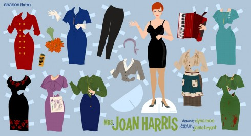 Mad Men Recortable Joan Harris