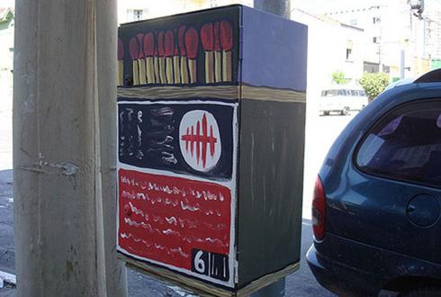 street art match box