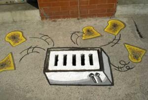 street art toast