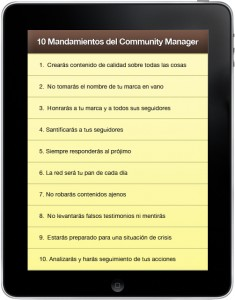 mandamientos community manager