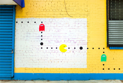 pacman-on-real-street