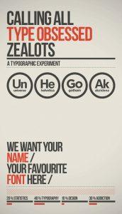 typographic experiment
